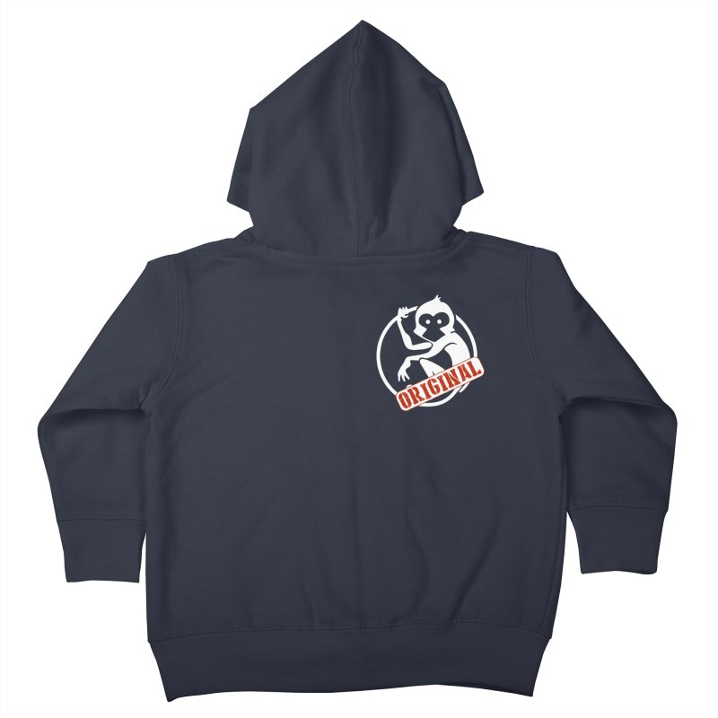 Monkey Original Small Logo Kids Toddler Zip-Up Hoody by The m0nk3y Merchandise Store