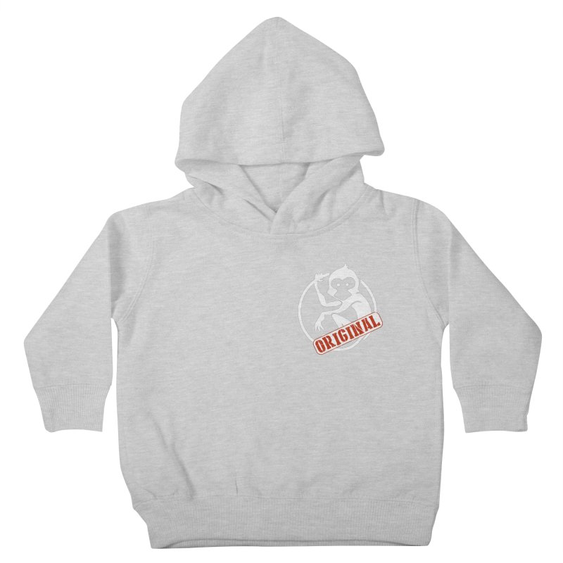 Monkey Original Small Logo Kids Toddler Pullover Hoody by The m0nk3y Merchandise Store