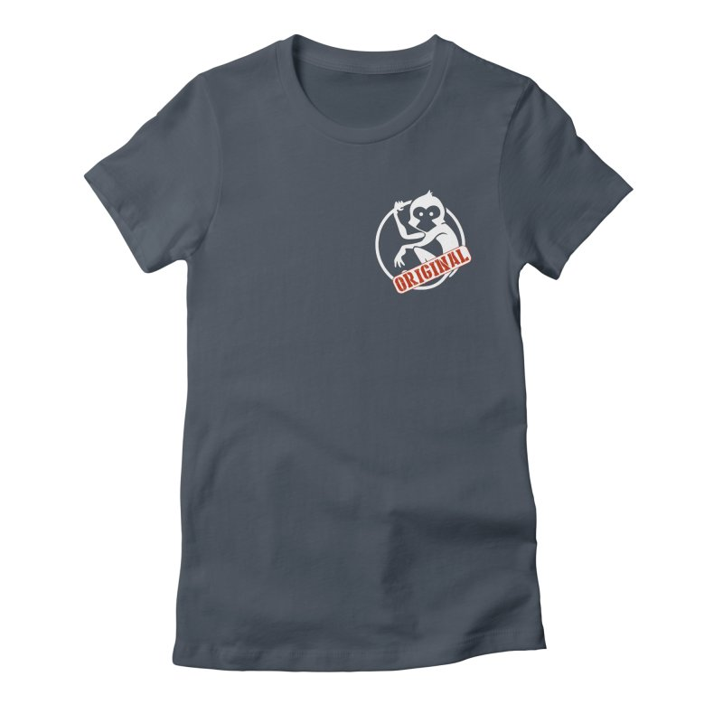 Monkey Original Small Logo Women's T-Shirt by The m0nk3y Merchandise Store