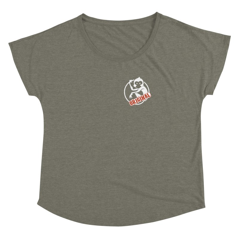Monkey Original Small Logo Women's Dolman Scoop Neck by The m0nk3y Merchandise Store
