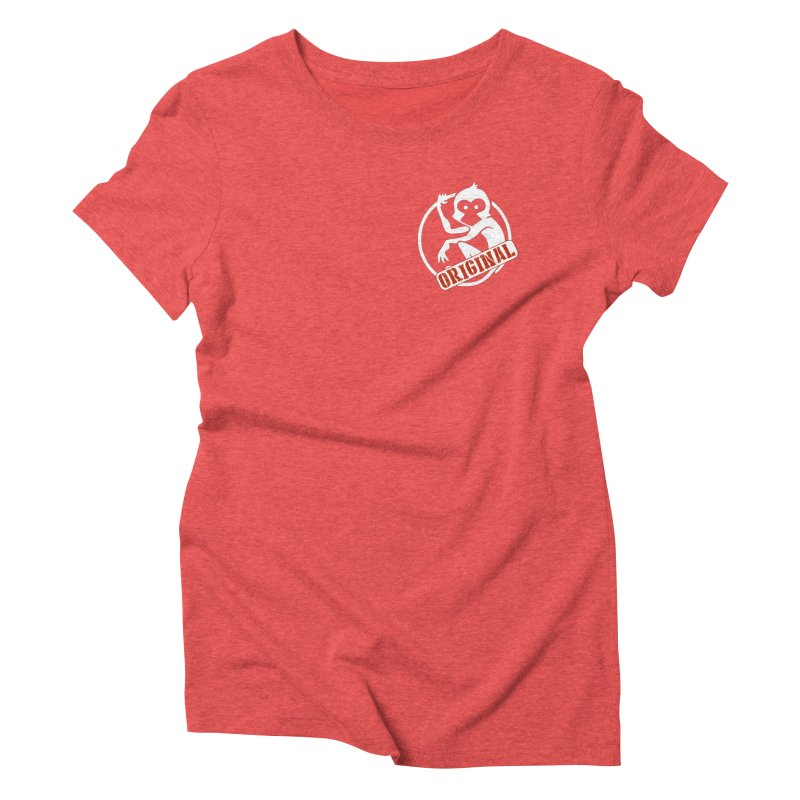 Monkey Original Small Logo Women's Triblend T-Shirt by The m0nk3y Merchandise Store