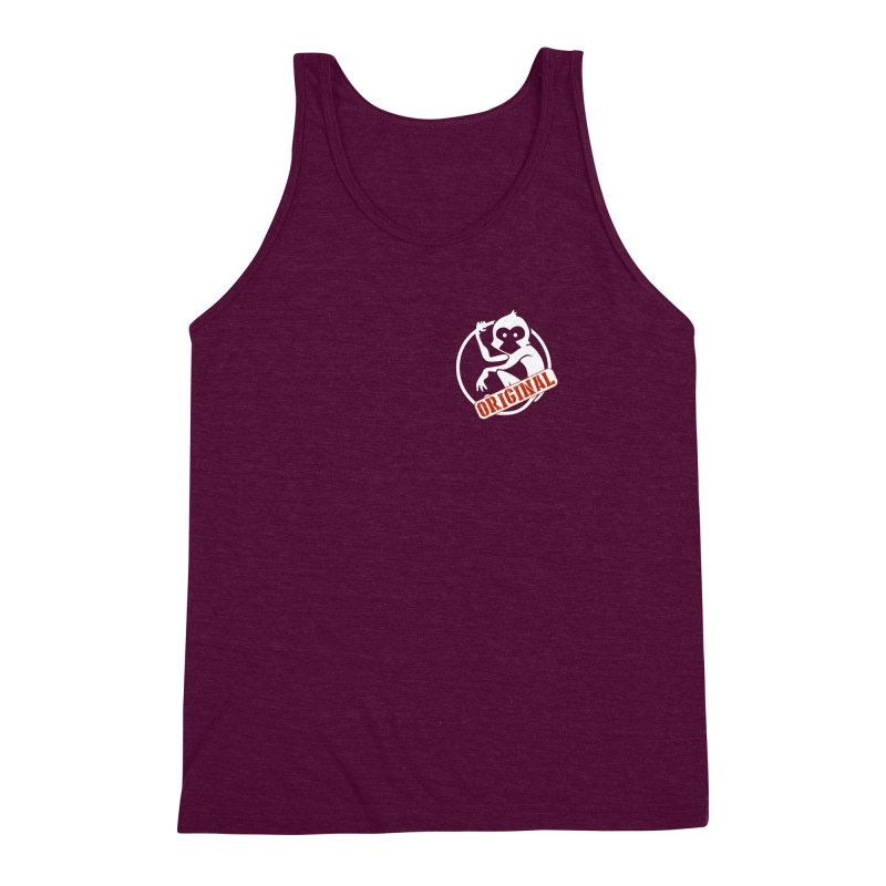 Monkey Original Small Logo Men's Triblend Tank by The m0nk3y Merchandise Store