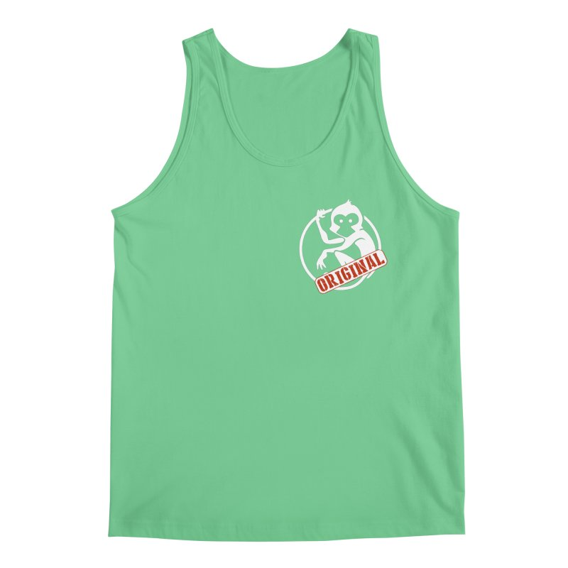 Monkey Original Small Logo Men's Regular Tank by The m0nk3y Merchandise Store