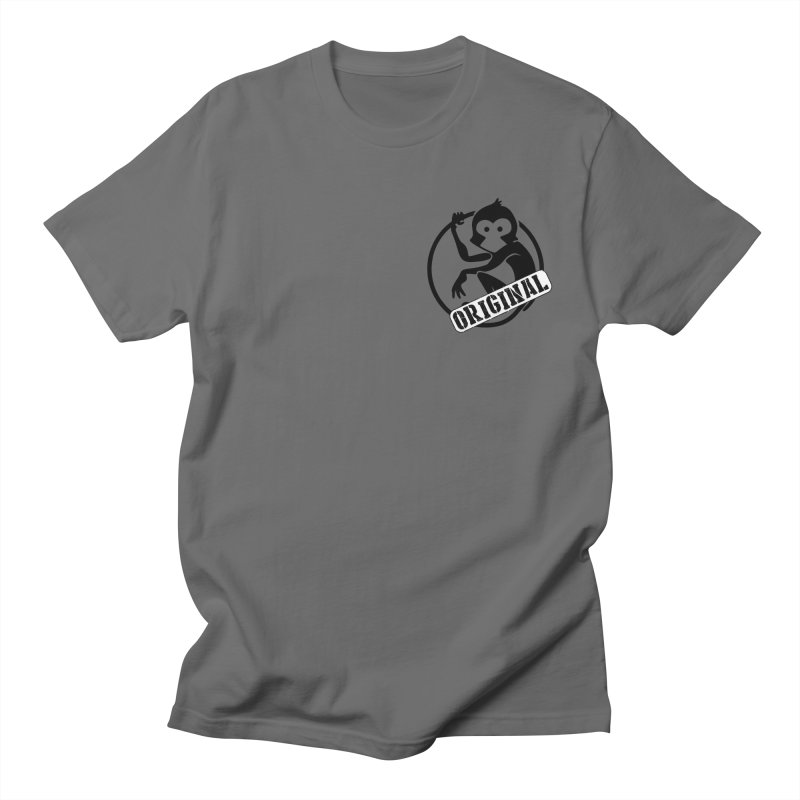 Monkey Original Small Logo Men's T-Shirt by The m0nk3y Merchandise Store