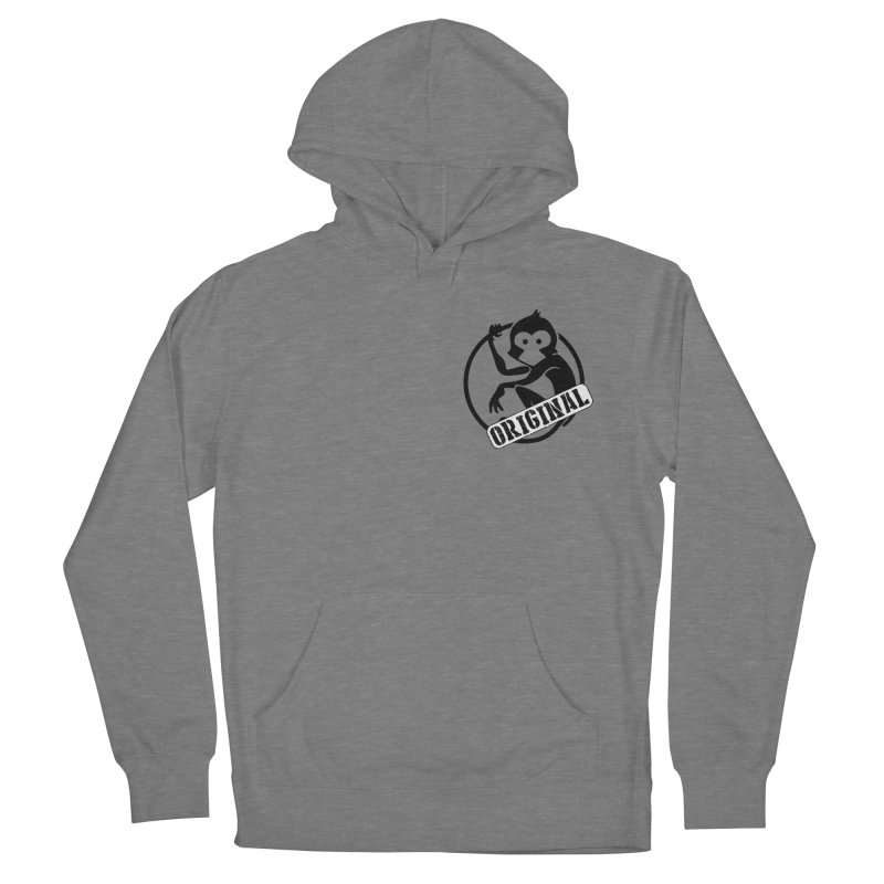 Monkey Original Small Logo Women's Pullover Hoody by The m0nk3y Merchandise Store