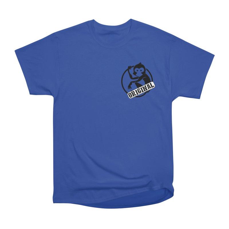 Monkey Original Small Logo Women's Heavyweight Unisex T-Shirt by The m0nk3y Merchandise Store