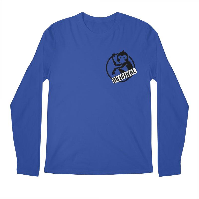 Monkey Original Small Logo Men's Regular Longsleeve T-Shirt by The m0nk3y Merchandise Store