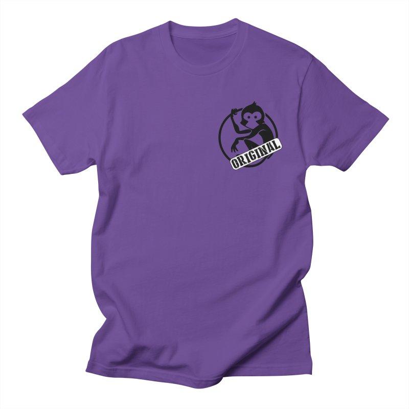 Monkey Original Small Logo Women's Regular Unisex T-Shirt by The m0nk3y Merchandise Store