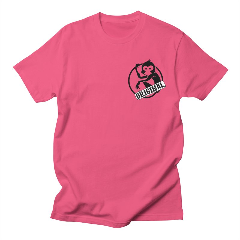 Monkey Original Small Logo Men's Regular T-Shirt by The m0nk3y Merchandise Store