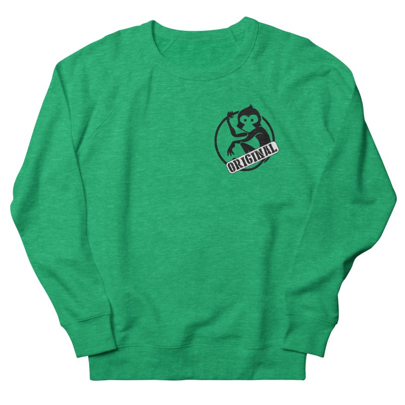 Monkey Original Small Logo Men's French Terry Sweatshirt by The m0nk3y Merchandise Store