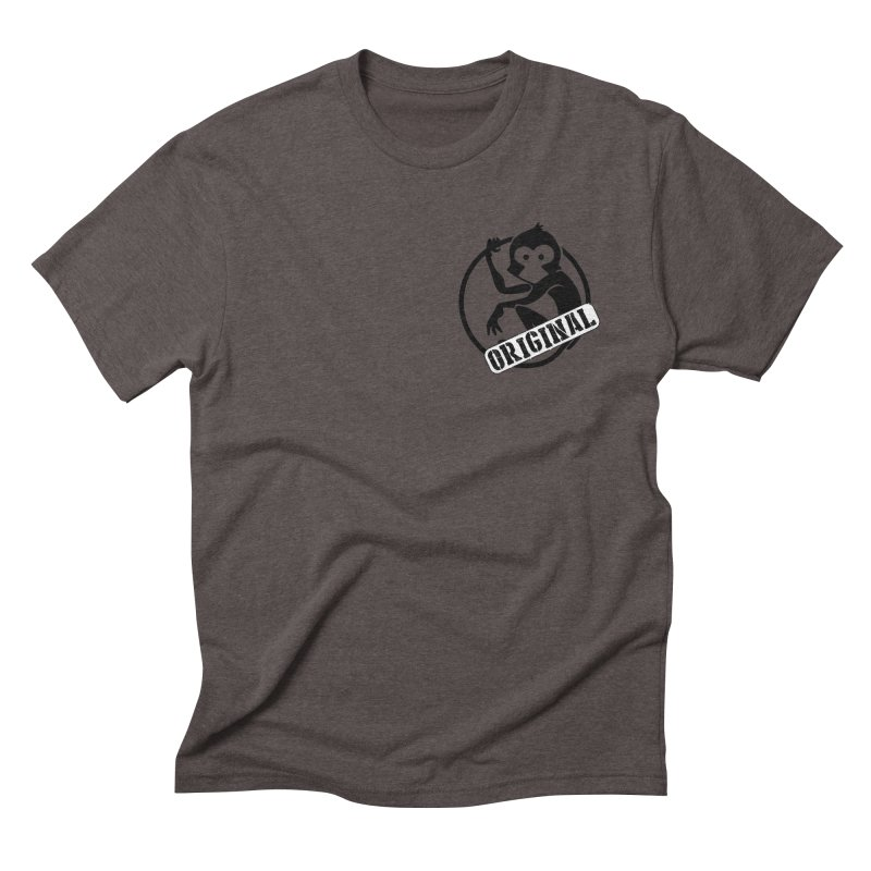 Monkey Original Small Logo Men's Triblend T-Shirt by The m0nk3y Merchandise Store