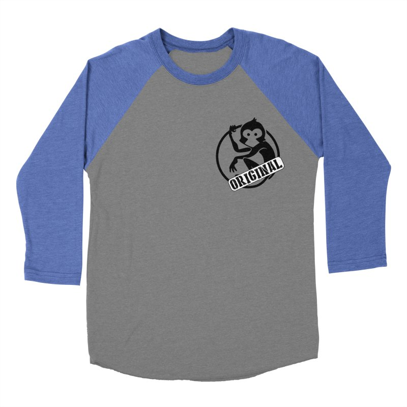 Monkey Original Small Logo Women's Baseball Triblend Longsleeve T-Shirt by The m0nk3y Merchandise Store