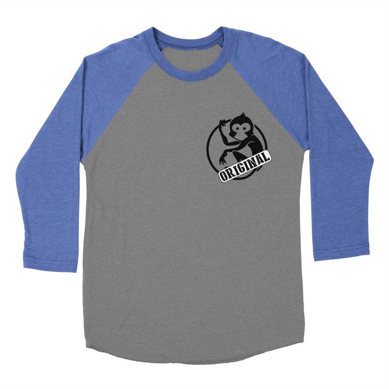 Monkey Original Small Logo Men's Baseball Triblend Longsleeve T-Shirt by The m0nk3y Merchandise Store
