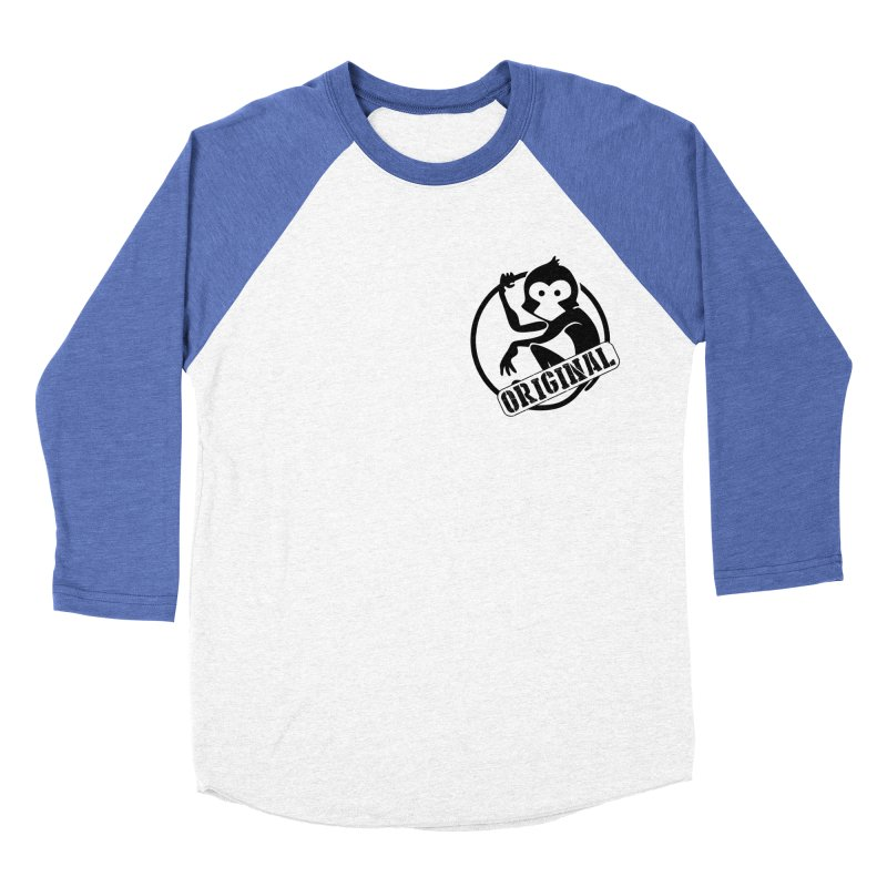 Monkey Original Small Logo Men's Baseball Triblend Longsleeve T-Shirt by The m0nk3y Merchandise Store