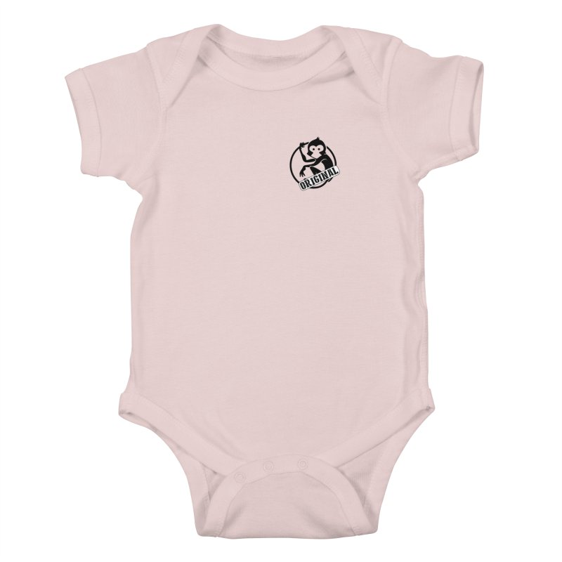 Monkey Original Small Logo Kids Baby Bodysuit by The m0nk3y Merchandise Store