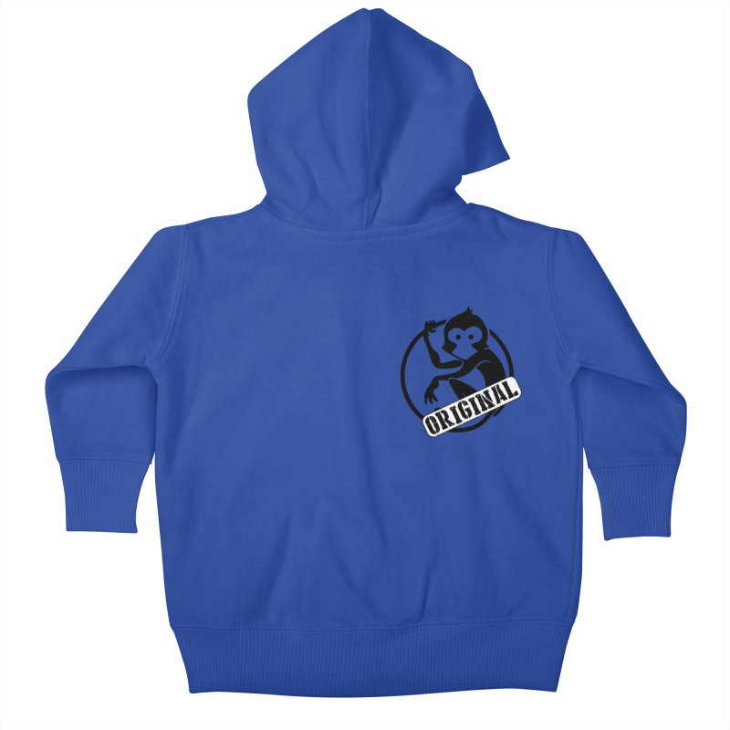 Monkey Original Small Logo Kids Baby Zip-Up Hoody by The m0nk3y Merchandise Store