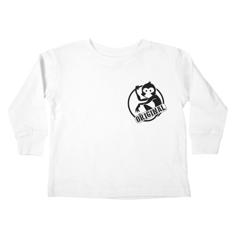 Monkey Original Small Logo Kids Toddler Longsleeve T-Shirt by The m0nk3y Merchandise Store