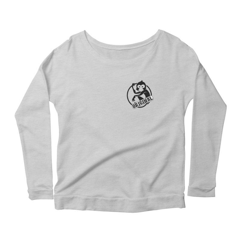 Monkey Original Small Logo Women's Scoop Neck Longsleeve T-Shirt by The m0nk3y Merchandise Store