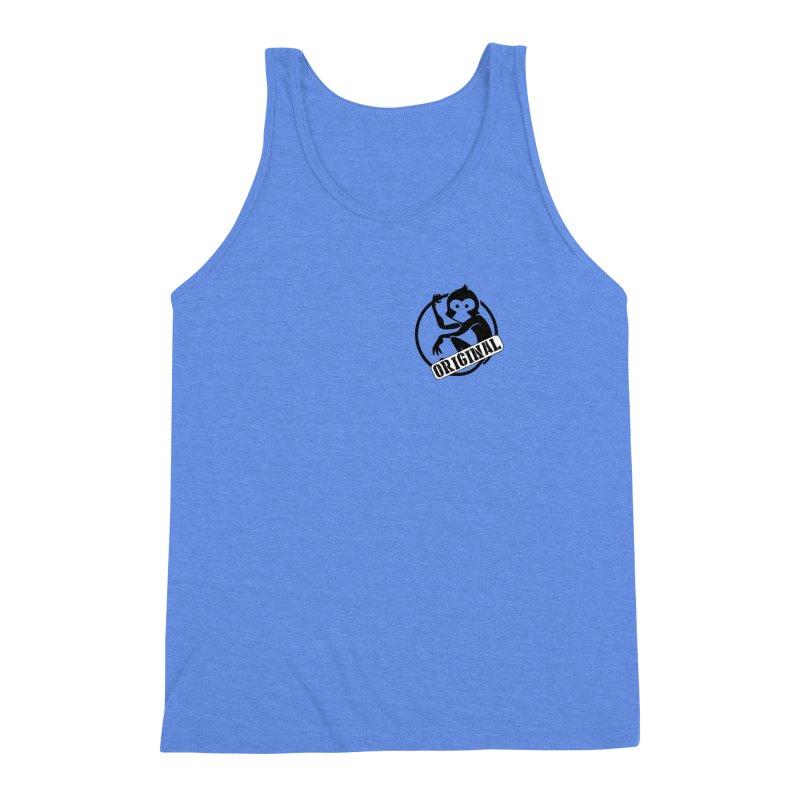Monkey Original Small Logo Men's Triblend Tank by The m0nk3y Merchandise Store