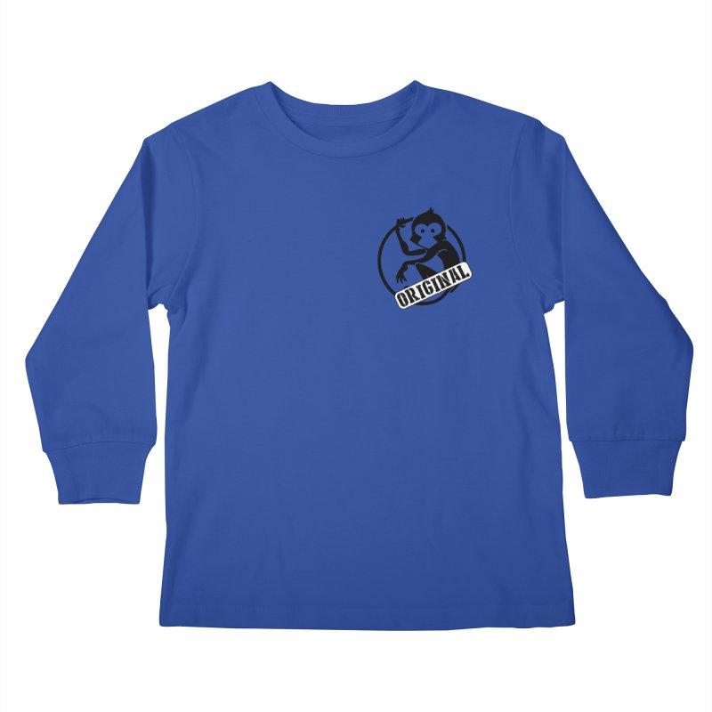 Monkey Original Small Logo Kids Longsleeve T-Shirt by The m0nk3y Merchandise Store