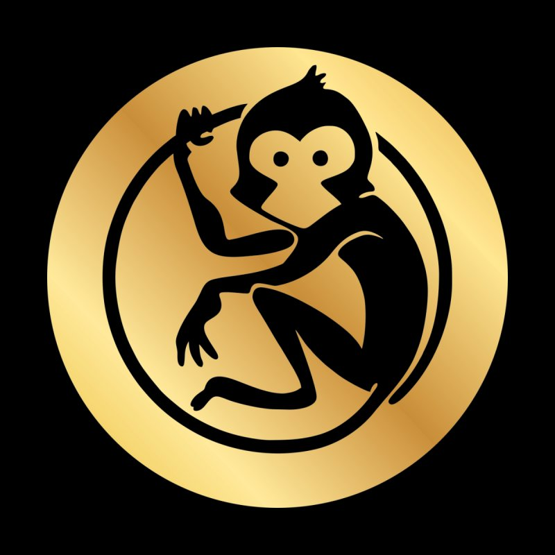 Monkey Gold Small Logo by The m0nk3y Merchandise Store