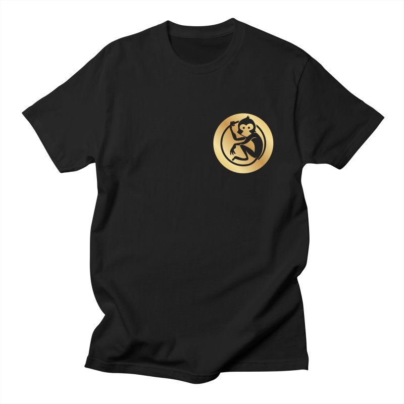 Monkey Gold Small Logo Men's T-Shirt by The m0nk3y Merchandise Store