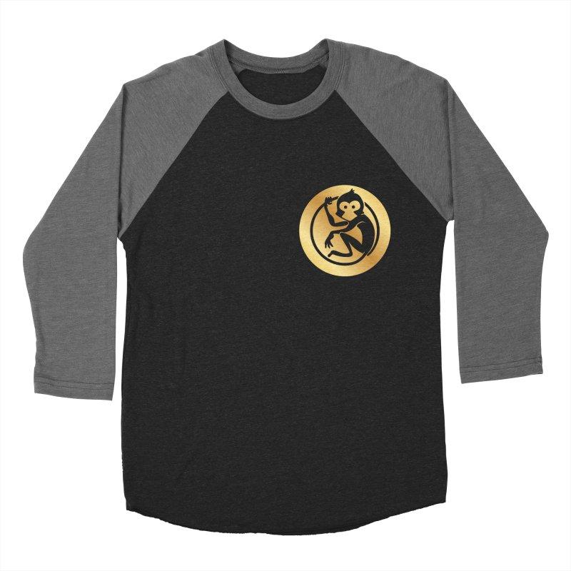 Monkey Gold Small Logo Women's Longsleeve T-Shirt by The m0nk3y Merchandise Store