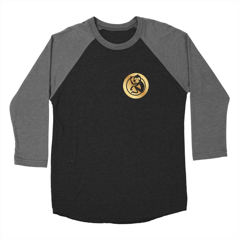 Monkey Gold Small Logo Women's Baseball Triblend Longsleeve T-Shirt by The m0nk3y Merchandise Store