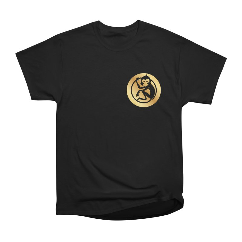 Monkey Gold Small Logo Women's Heavyweight Unisex T-Shirt by The m0nk3y Merchandise Store