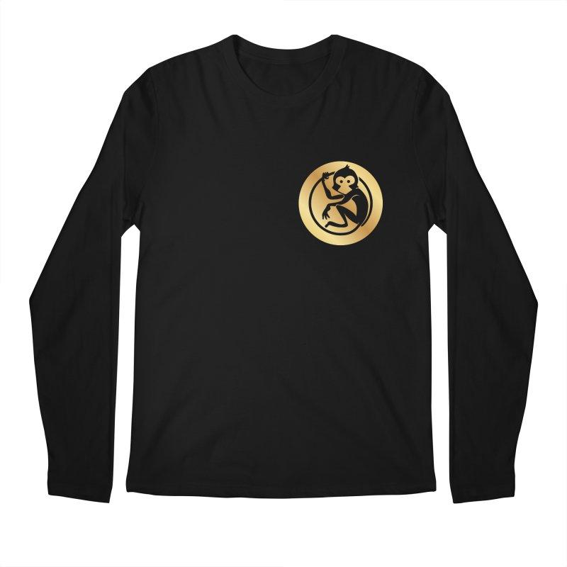 Monkey Gold Small Logo Men's Longsleeve T-Shirt by The m0nk3y Merchandise Store