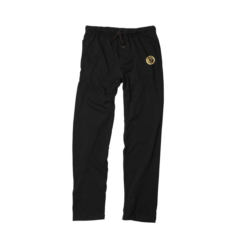 Monkey Gold Small Logo Men's Lounge Pants by The m0nk3y Merchandise Store
