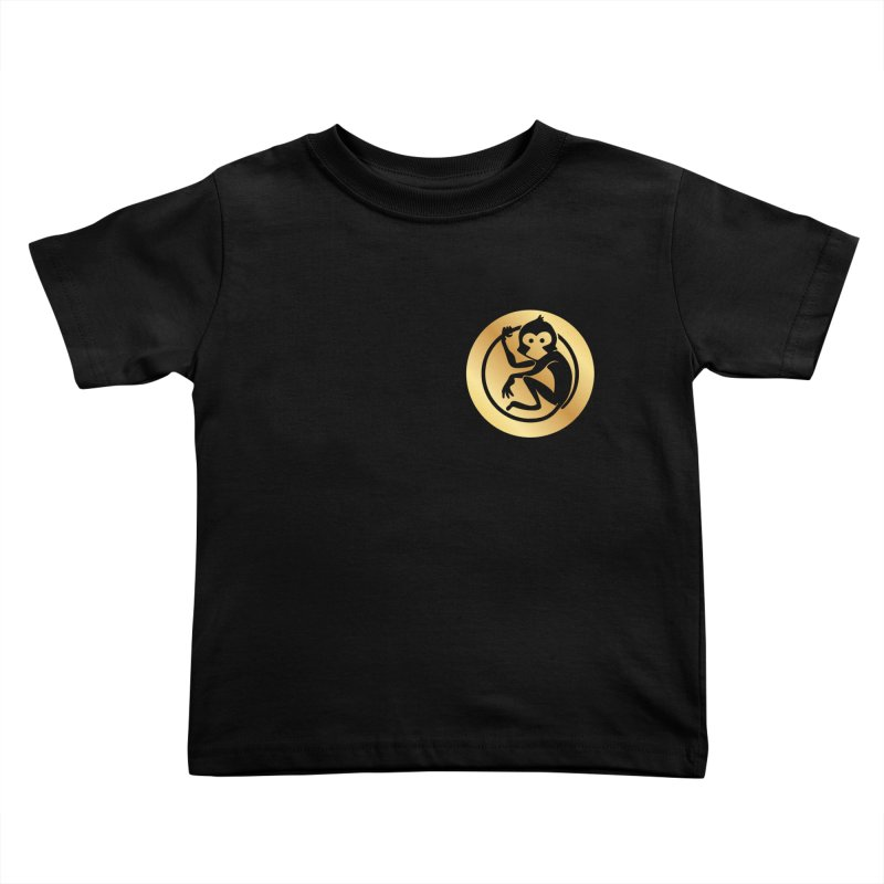 Monkey Gold Small Logo Kids Toddler T-Shirt by The m0nk3y Merchandise Store