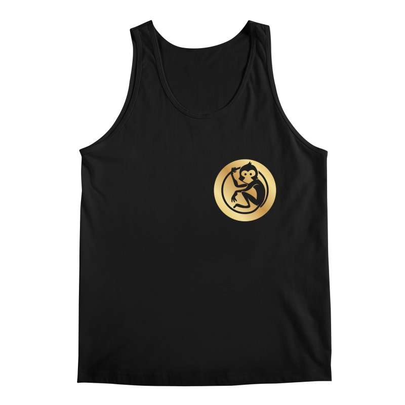 Monkey Gold Small Logo Men's Regular Tank by The m0nk3y Merchandise Store
