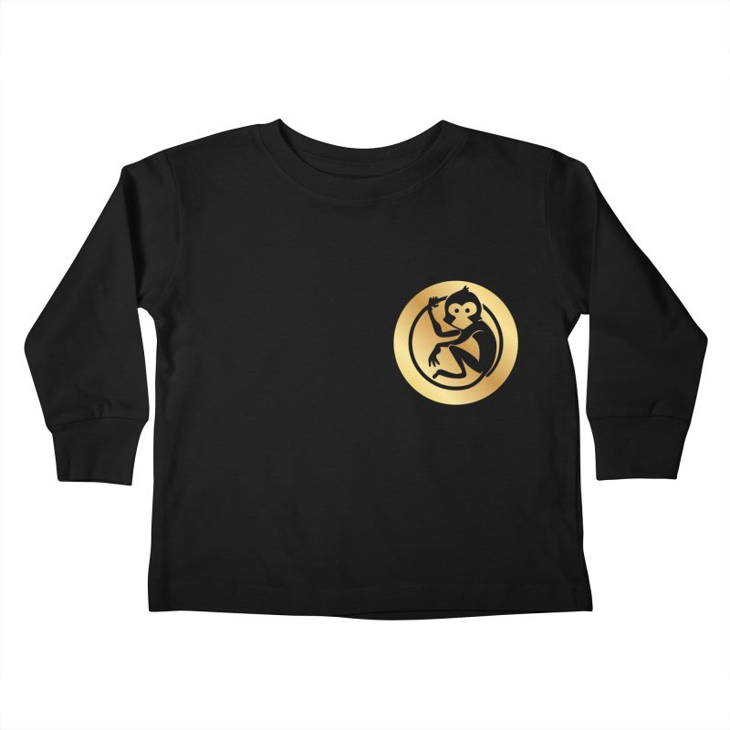 Monkey Gold Small Logo Kids Toddler Longsleeve T-Shirt by The m0nk3y Merchandise Store