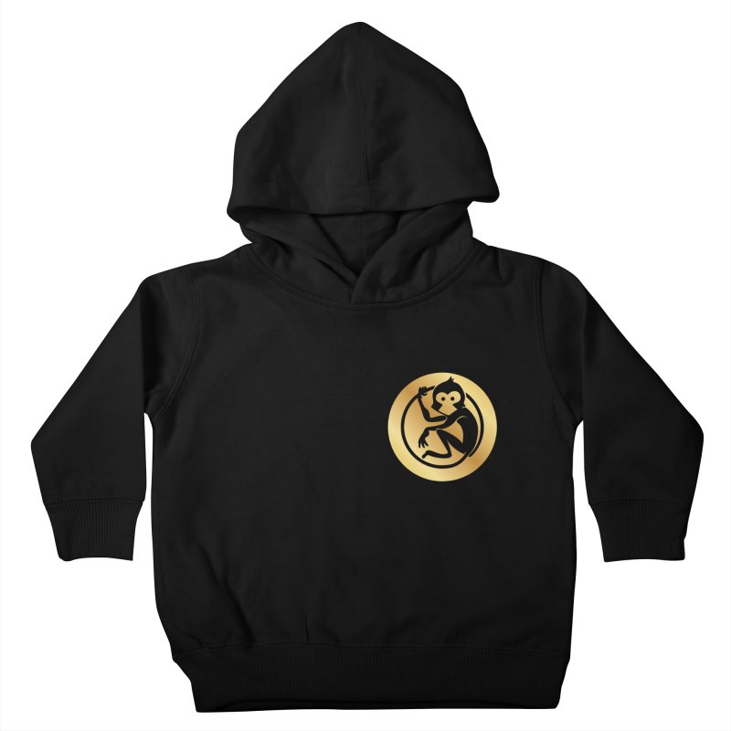 Monkey Gold Small Logo Kids Toddler Pullover Hoody by The m0nk3y Merchandise Store