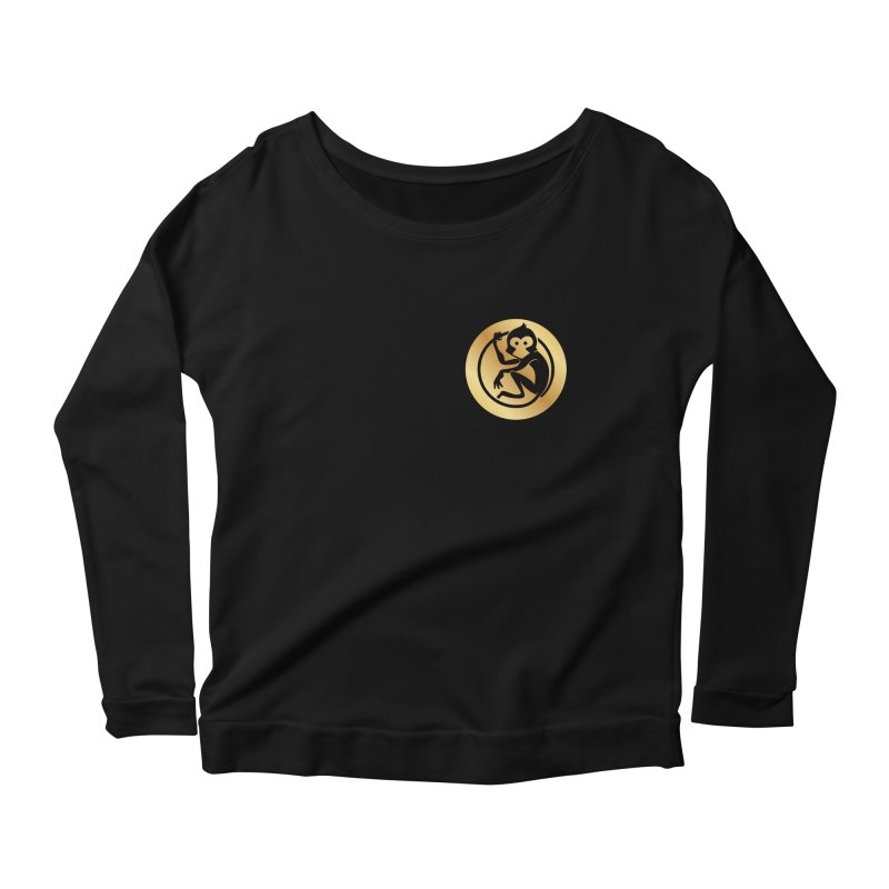 Monkey Gold Small Logo Women's Longsleeve T-Shirt by The m0nk3y Merchandise Store