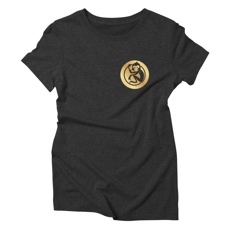 Monkey Gold Small Logo Women's Triblend T-Shirt by The m0nk3y Merchandise Store