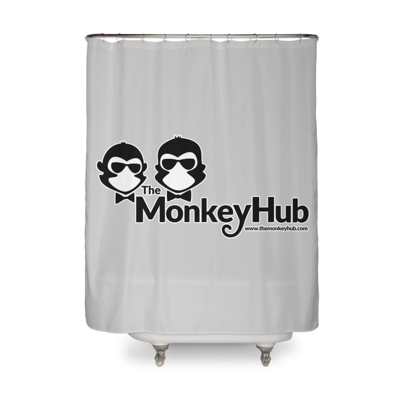 The MonkeyHub Home Shower Curtain by The m0nk3y Merchandise Store