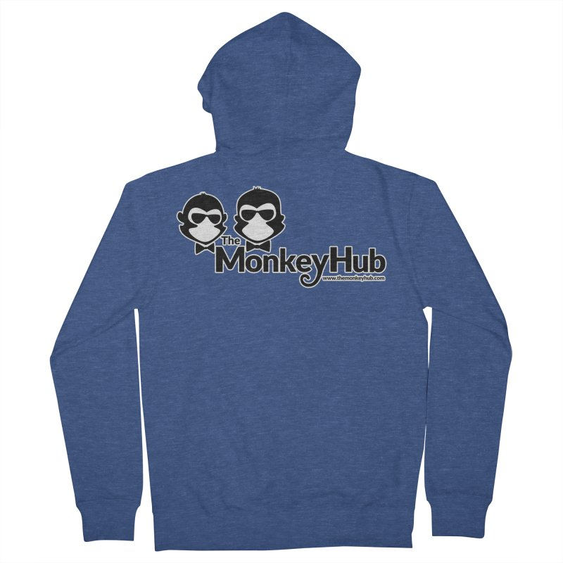 The MonkeyHub Men's French Terry Zip-Up Hoody by The m0nk3y Merchandise Store