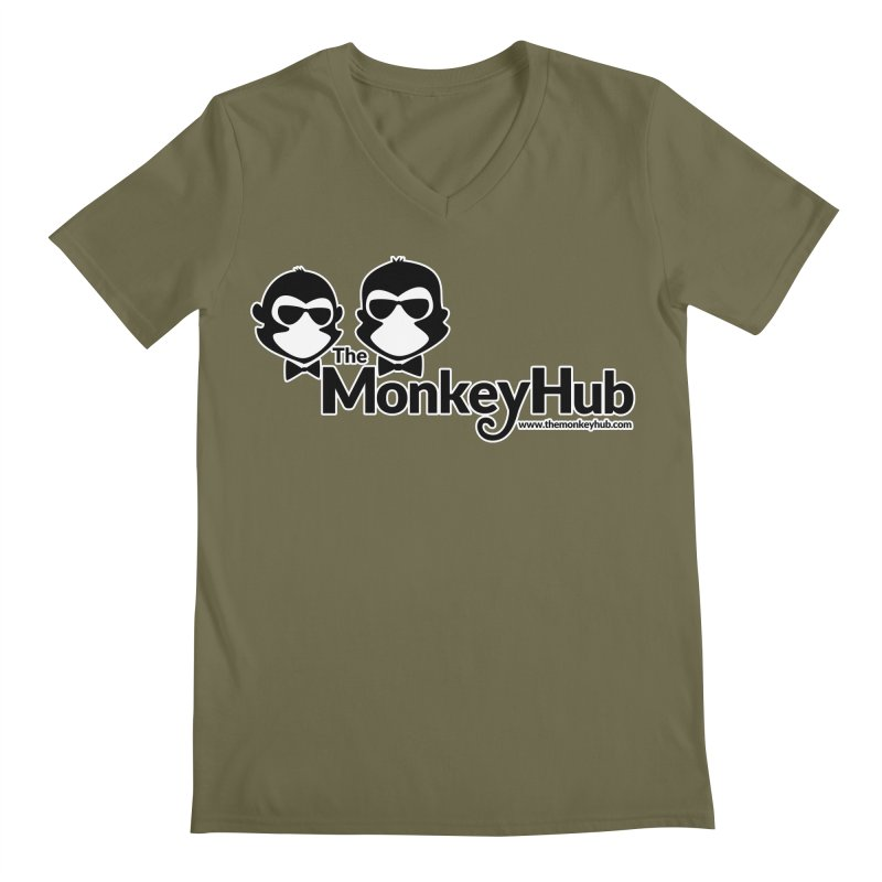 The MonkeyHub Men's Regular V-Neck by The m0nk3y Merchandise Store