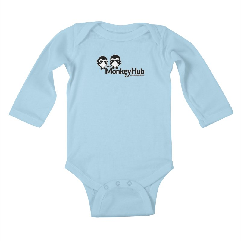 The MonkeyHub Kids Baby Longsleeve Bodysuit by The m0nk3y Merchandise Store