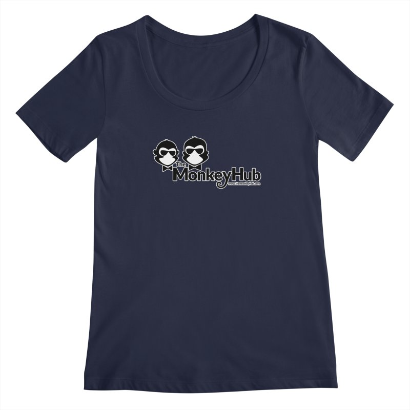 The MonkeyHub Women's Regular Scoop Neck by The m0nk3y Merchandise Store
