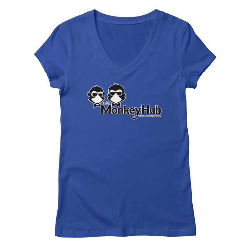 The MonkeyHub Women's Regular V-Neck by The m0nk3y Merchandise Store