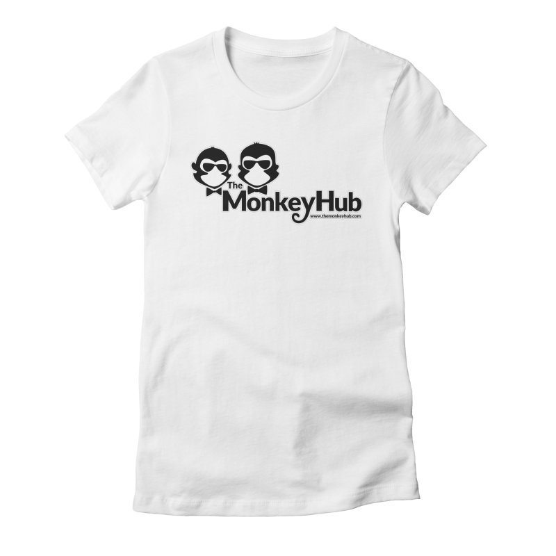 The MonkeyHub Women's Fitted T-Shirt by The m0nk3y Merchandise Store