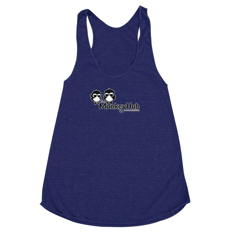 The MonkeyHub Women's Racerback Triblend Tank by The m0nk3y Merchandise Store
