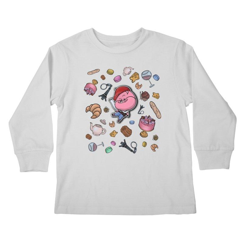 PIG Tails - FRANCE Kids Longsleeve T-Shirt by MonkkeyBiz Artist Shop