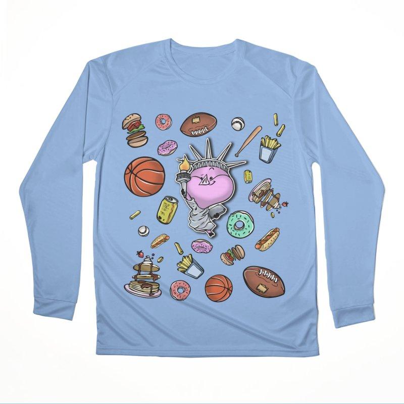 PIG Tails - USA Women's Longsleeve T-Shirt by MonkkeyBiz Artist Shop