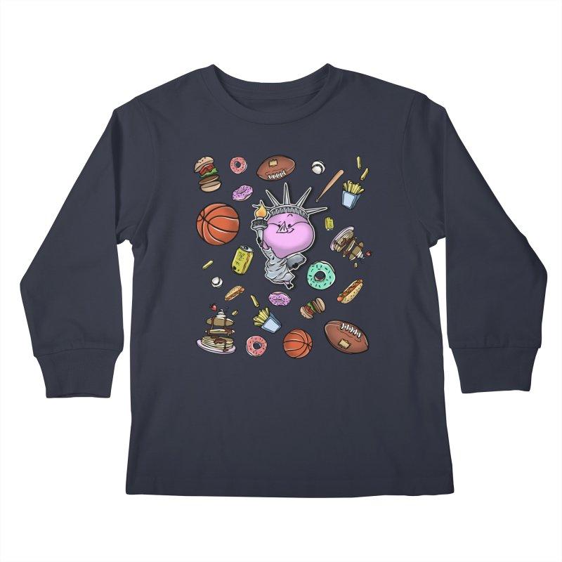 PIG Tails - USA Kids Longsleeve T-Shirt by MonkkeyBiz Artist Shop