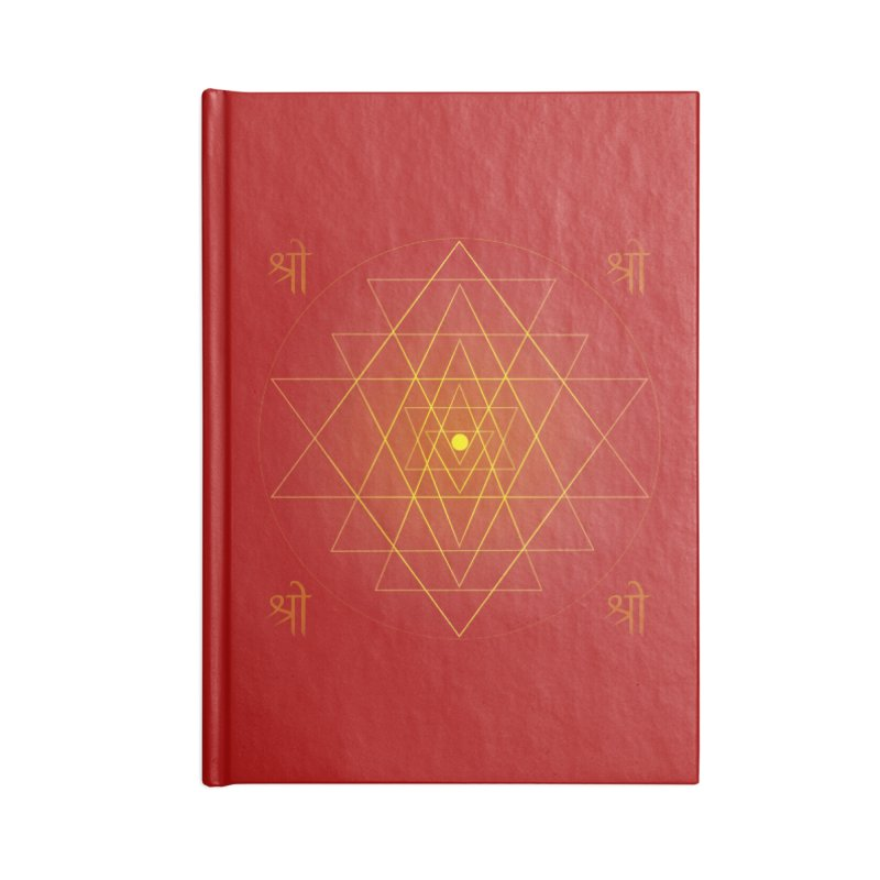Sri Yantra Accessories Lined Journal Notebook by Moon Jewel