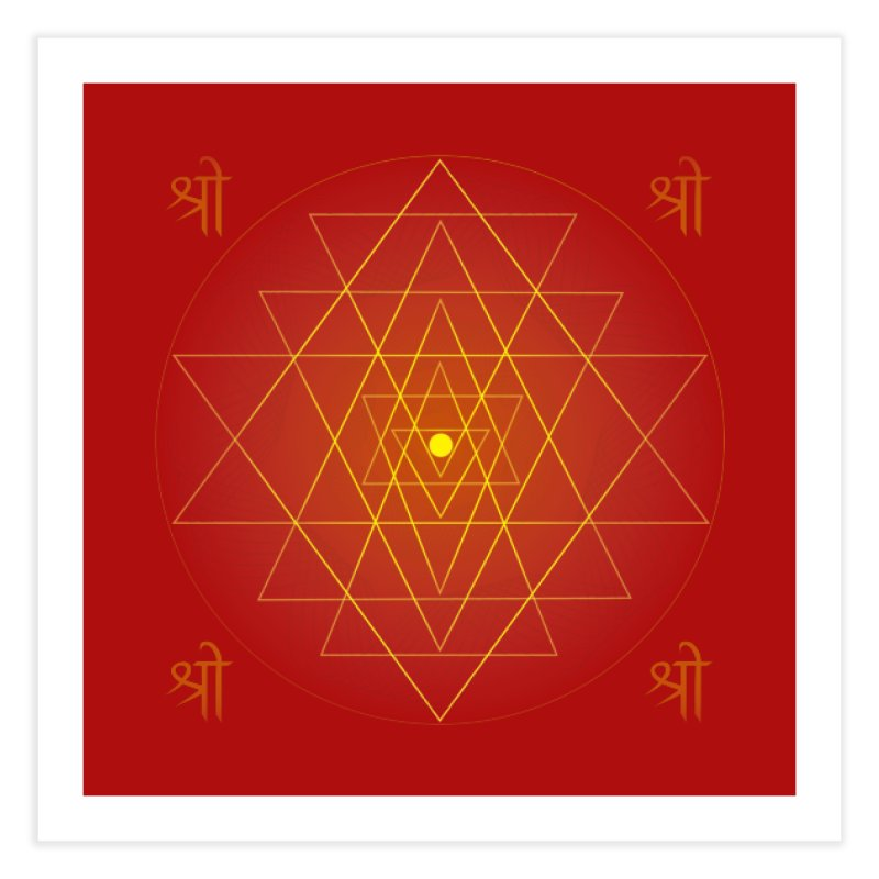 Sri Yantra Home Fine Art Print by Moon Jewel